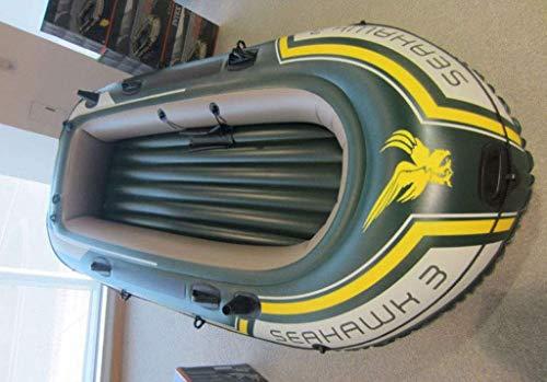 Zwembad, 3-persoons opblaasboot om aluminium peddels en luchtpomp met hoge output te sturen 295 keer 137 keer 43 cm Opblaasbare boot vissen buiten
