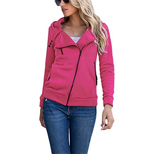 ZFQQ Otoño e Invierno Cremallera Multicolor para Mujer más suéter Casual de Terciopelo