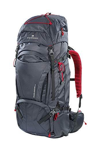 Ferrino Overland Rucksack, Unisex, Trekkingrucksack, 75671HCC, Schwarz , 65+10 L