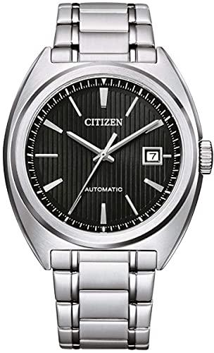 Citizen Reloj Analógico para Hombre de Automático con Correa en Acero Inoxidable NJ0100-71E