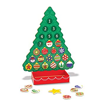 Melissa & Doug Countdown to Christmas Wooden Advent Calendar - Magnetic Tree 25 Magnets