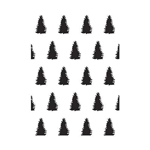 Darice Embossing Folder Prägefolder - Schablone, Evergreens, Plastik, Transparent, 10.8 x 14.6 x 0.11 cm