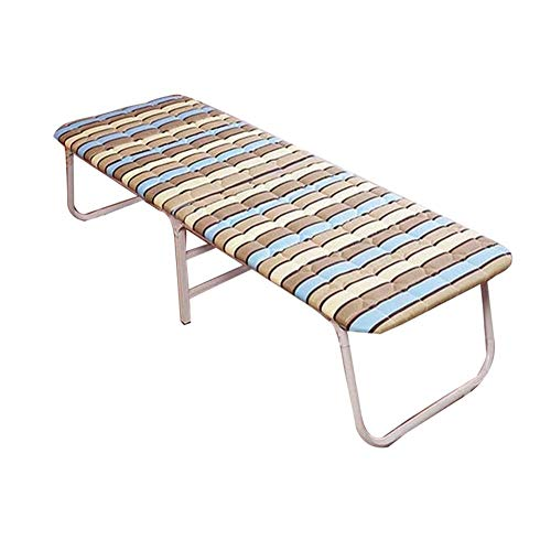 L.W.S Muebles de Dormitorio Cama Moda Camas Individuales Plegable Almuerzo Descanso Simple Refuerzo Oficina al Aire Libre casa Escort Siesta sin Barrera