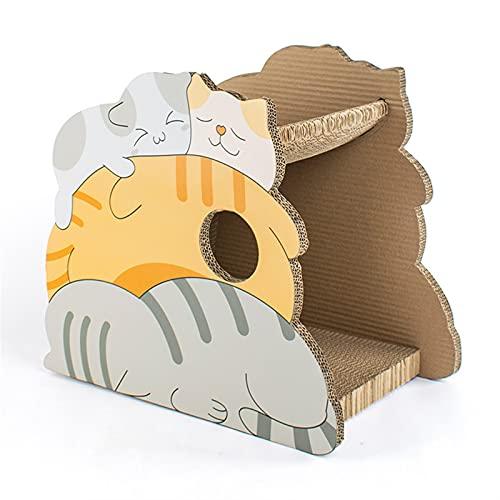 Cat Scratch Board Multi-Cat Scratch Board Dibujos animados Cat House Cat Glaw Spharder Pet Cat Toy Cat Supplies Apto para gatos para afinar sus uñas y dormir (Color : 2)