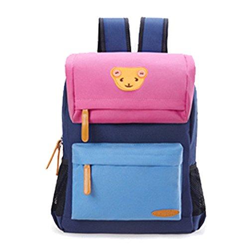 jecxep di Oxford panno bambini scuola studenti spalle borsa zainetto per bambini, Bear Pink