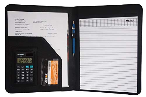 Victor Deluxe Padfolio/Resume Portfolio Folder with 8 Digit...