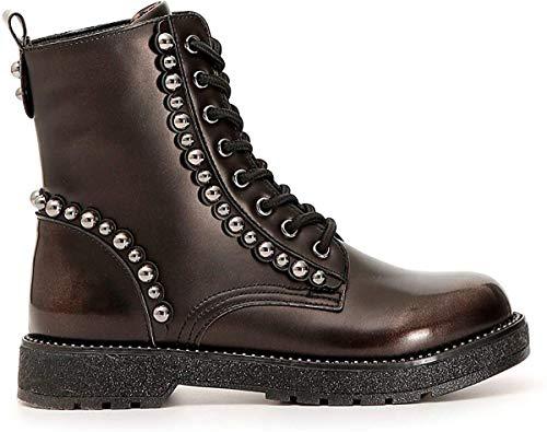 Cafè Noir HFA957 - Zapatos de cordones con tachuelas esféricas Size: 37 EU (Ropa)