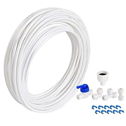 Kit de Limpieza de Conectores de tubos de agua purificador de agua tubo de unión para la tubería de agua de la manguera Nevera Nevera agua de los 10M del tubo de agua