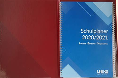 Lehrerkalender - Schulplaner LEO 2020-2021 DIN A4 + Leomappe rot- im Set +gratis: Wandkalender DIN A2 für das Schuljahr 2020-2021