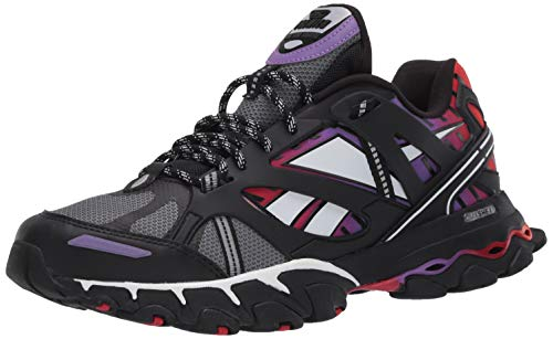 Reebok Men's Unisex DMX Trail Shadow Running Shoe, black/cold Grey/Scarlet, 10