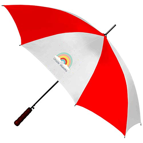 My Custom Style Ombrello Superstar Bianco-Rosso#Scuola-Arcobaleno#