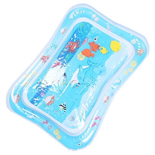 YARNOW Bauch Zeit Baby Wassermatte Aufblasbare Spielzeugmatte Cartoon-Muster Säugling Geschlagen Spielzeug Aufblasbare Spielmatte (Hai-Muster)