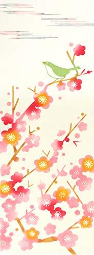 Airashika(あいらしか) 和雑貨 注染手ぬぐい『春鶯』 梅 33×90cm