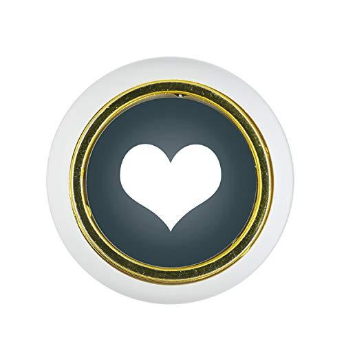 Möbelknopf Kunststoff Klein & Elegant KST06446W Weiss Herz Motiv - Kleine Universal Möbelknöpfe für Schrank, Schublade, Kommode, Tür, Küche, Bad, Haushalt Kinder Kinderzimmer