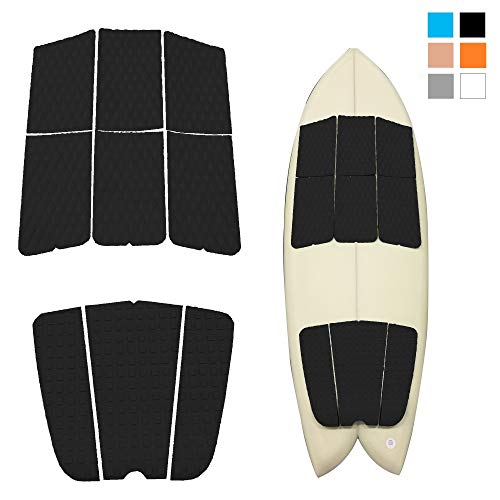 Surfboard Mat EVA Anti-Slip Surfing Deck Grip Pad with Adhesive Tape for Kiteboard Skimboard Paddleboard