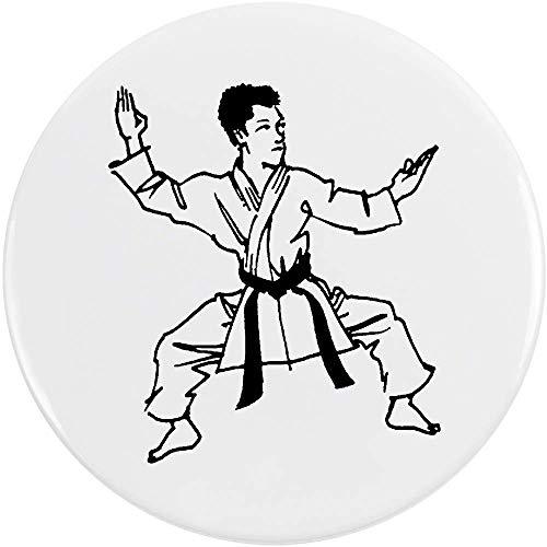 Azeeda 77mm'Karate' Pin Knopf-Abzeichen (BB00054531)