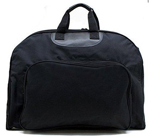 ガーメントバッグ スーツ入れ 〜撥水加工の高級 撥水加工 高性能 ガーメント ビジネスバッグ ガーメントケース (ブラック)