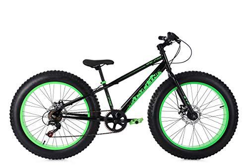 KS Cycling Mountainbike MTB Fatbike 24'' SNW2458 schwarz-grün RH 33 cm