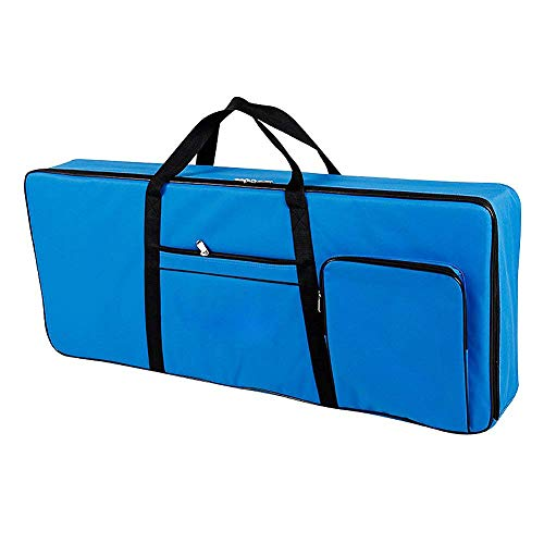 61 Key Keyboard Gig Bag Case,Portable Electric Keyboard Piano Waterproof 600D Oxford Cloth with 10mm Cotton Padded Case Gig Bag 40'x16'x6' / Blue