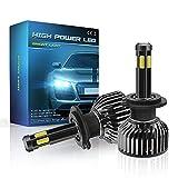 Iriisy 2PCS LED faros delanteros de coche Bombillas H7 LED 6000k Luz blanco 360 ° tipo bombillas 6 lados