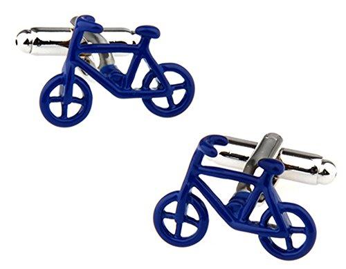 Ashton and Finch Blaues Fahrrad Manschettenknöpfe in Einer luxuriösen Präsentationsbox. Neuheit Transport Radfahren. Themenschmuck