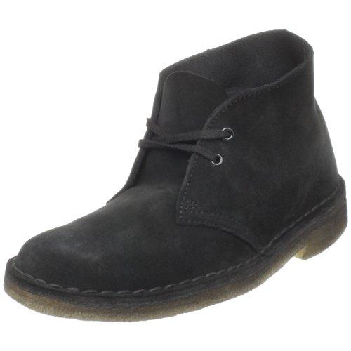Clarks Women's Desert Boot, Black Suede, 7 B - Medium