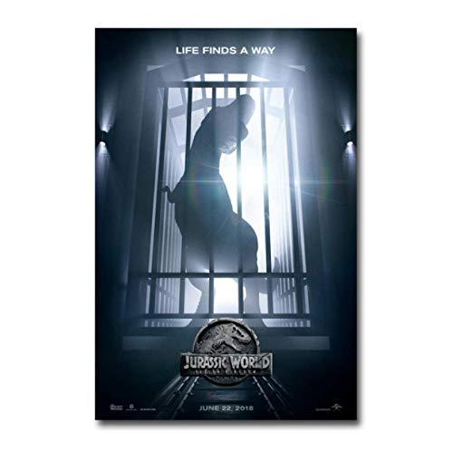 Liuheng Carteles de películas clásicas Jurassic World Fallen Kingdom Pintura en Lienzo sin Marco HD para Dormitorio Dormitorio Decoración del hogar 40x50 cm (15.74x19.68 in)