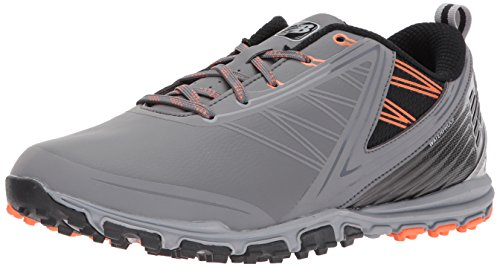 New Balance Men's Minimus SL Waterproof Spikeless Comfort Golf Shoe, 10 D D US, grey/orange