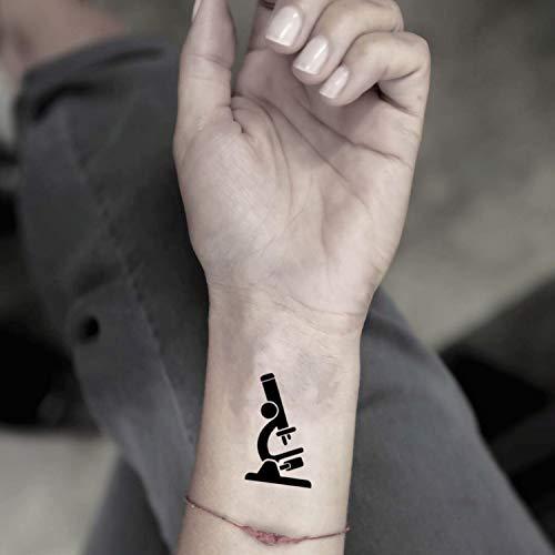 Tatuaje Temporal de Microscopio (2 Piezas) - www.ohmytat.com