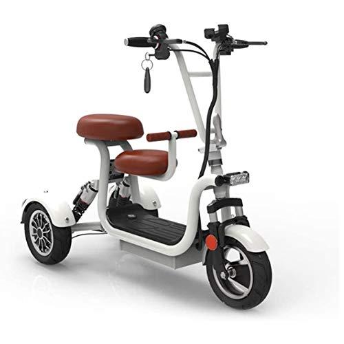 CXD Mini eléctrico Triciclo de Edad Avanzada batería de Litio Ocio Scooter Eléctrico Triciclo para Adultos discapacitados Vespa,1