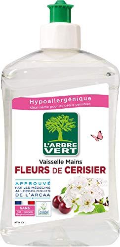 L'arbre vert Liquide Vaisselle Mains Fleurs de Cerisier Hypoallergénique