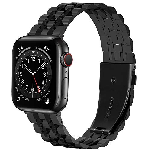 Fullmosa Correa del Reloj Compatible con Apple Watch 38/40/41mm,Pulsera de Reloj de Reemplazo de Acero Inoxidablepara iWatch SE Series 7/6/5/4/3/2/1,Apple Watch Correa 42/44/45mm para Hombre &Mujer