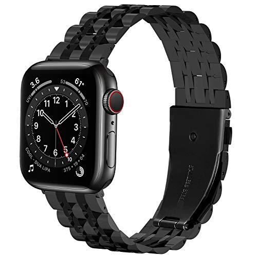 Fullmosa Correa del Reloj Compatible con Apple Watch 38mm 40mm,Pulsera de Reloj de Reemplazo de Acero Inoxidablepara iWatch SE Series 6/5/4/3/2/1,Apple Watch Correa 42mm 44mm para Hombre &Mujer