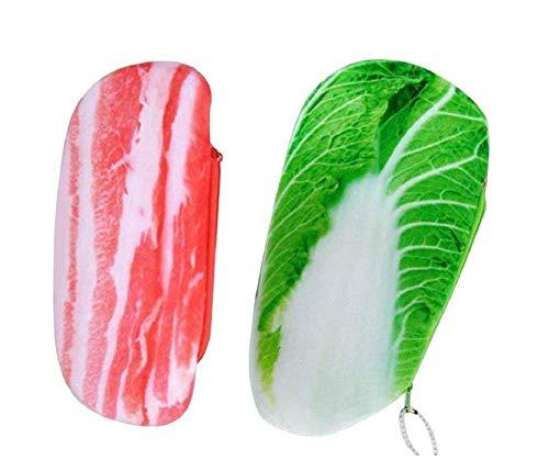 Gwill - Estuche para lápices de cerdo de imitación, 2 unidades, ideal para guardar artículos de papelería, suministros escolares, regalos para estudiantes