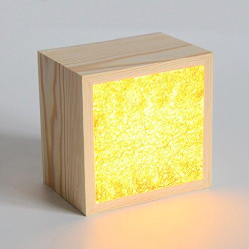 Lámparas de Escritorio Lámparas de Mesa y Mesilla Lámpara de mesa creativa de la luz de madera de la lufa, lámpara simple moderna de la cabecera del dormitorio del ahorro de energía del LED Iluminació