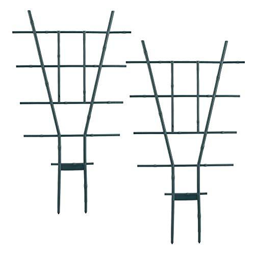 æ— Rankgitter für Gartenpflanzen, 58,4 cm, Miniatur-Blatt-Rankgitter, Topfpflanzen-Unterstützung, Kletterpflanzen-Rankgitter, Blumentöpfe, Unterstützung für Gemüse, Blumen, Reben, Klettern, 4 Stück