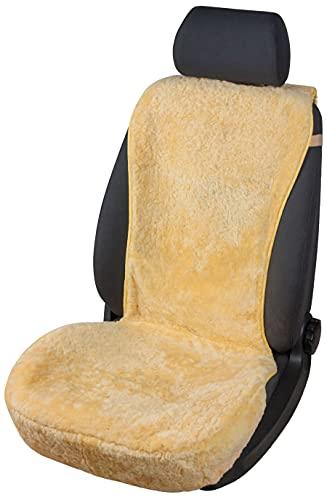 Walser Auto-Sitzauflag Lammfell, Autoschonbezug Lammfell, Sitzauflage Lammfell Vogue, Lammfellsitzauflage beige Autositzauflage 16-18mm Fellhöhe 20102