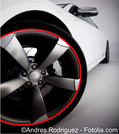 Generisch Felgenrand Aufkleber Auto & Motorrad Felgenrandaufkleber Felgenaufkleber Stripe Felgen
