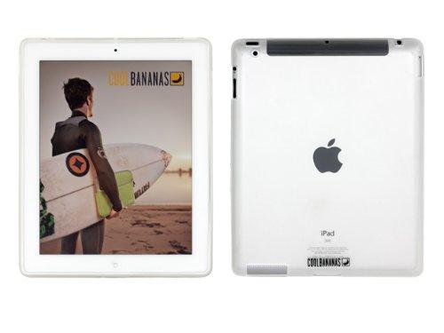 Cool Bananas TheShell TPU Tasche für iPad 2 in Transparent inkl. Displayschutzfolie