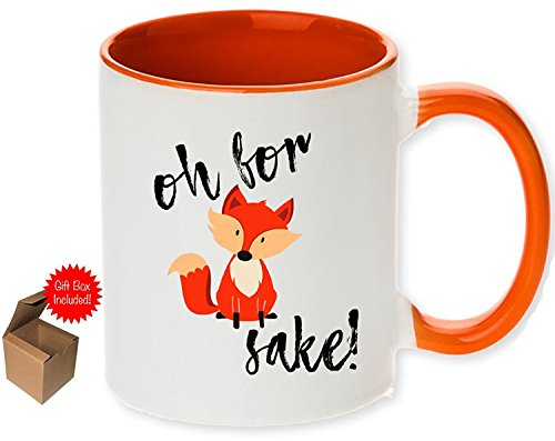 Unique Oh For Fox Sake Coffee Mug with Optional Personalized...