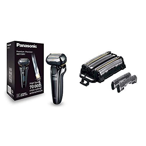 Panasonic ES-LV6Q-S803 Máquina de afeitar de láminas negro, acero inoxidable + Panasonic WES9036Y1361 Recambio de repuesto para afeitadora eléctrica para hombre