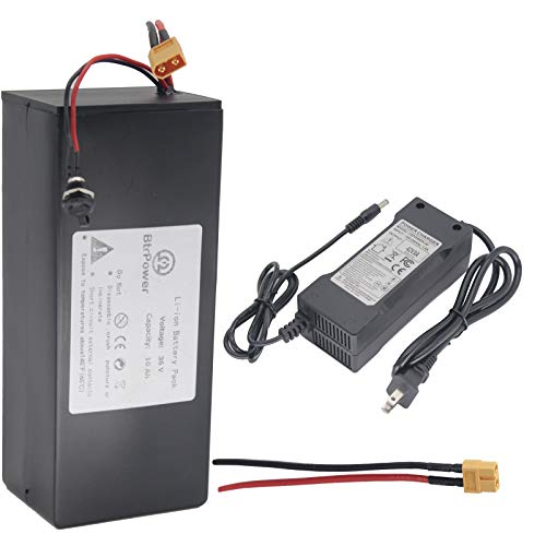 36V / 48V 10AH 10000MAH Lithium Ion Battery, Ebike Battery Pack with 3A Charger and BMS for Electric Scooter Bike 750W 500W 350W Motor (36V 10AH)
