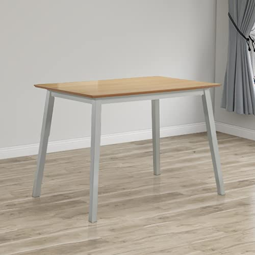 GOLDFAN Dining Table Rectangular Wooden Kitchen Table Easy Assembly for Dining Room Kitchen, Table Only (Grey)