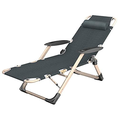 RTOFO Hogar Silla de Ocio Jardín Patio al Aire Libre Tumbonas Patio Silla reclinable Plegable con reposacabezas 5 Niveles de Nivel Ajustable