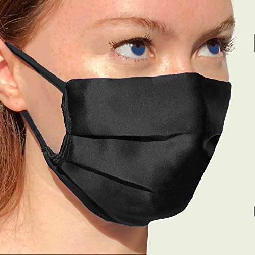 Pure Silk Face Mask Washable Reusable Anti Acne Hypoallergenic