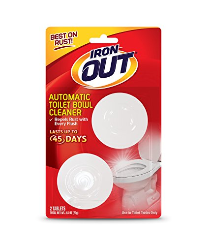 Iron OUT Automatic Toilet Bowl Cleaner, Repel Rust and Hard Water Stains with Every Flush, Household Toilet Cleaner, Pack of 6, 24 Tablets