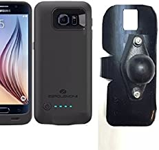 SlipGrip RAM Holder for Samsung Galaxy S6 Using ZeroLemon 3500mAh Slim Extended Battery Case