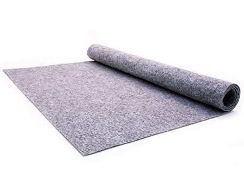 Teppich-Boden Rips Malta B1 - Grau, 2,00m x 2,00m Rips-Nadelfilz, Schwer Entflammbar, Höhe ca.2mm, Gerippter Bodenbelag für Events und Messen
