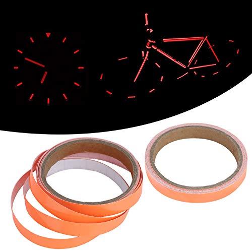Cinta luminosa, cinta fluorescente, para paredes, ventanas, pasillos, puertas(Orange red, 1cmx3m)