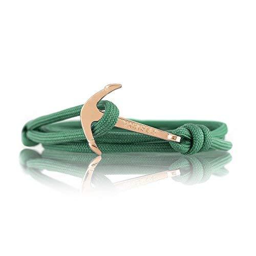 VIKINGS Anker-Armband Nylon Anker SCHWARZ - Gold - Silber Modeschmuck Unisex (Grün Gold)